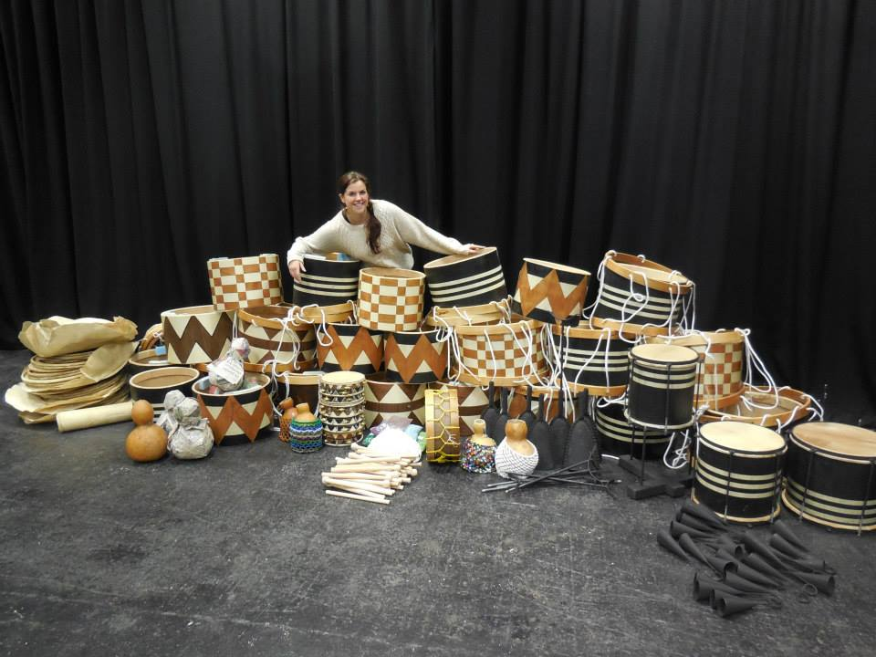 Drums fresh from Brazil